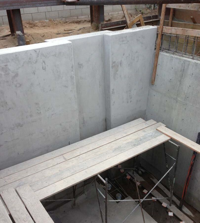 Poured the basement, foundation, and retaining walls for a custom home in Manhattan Beach, CA.