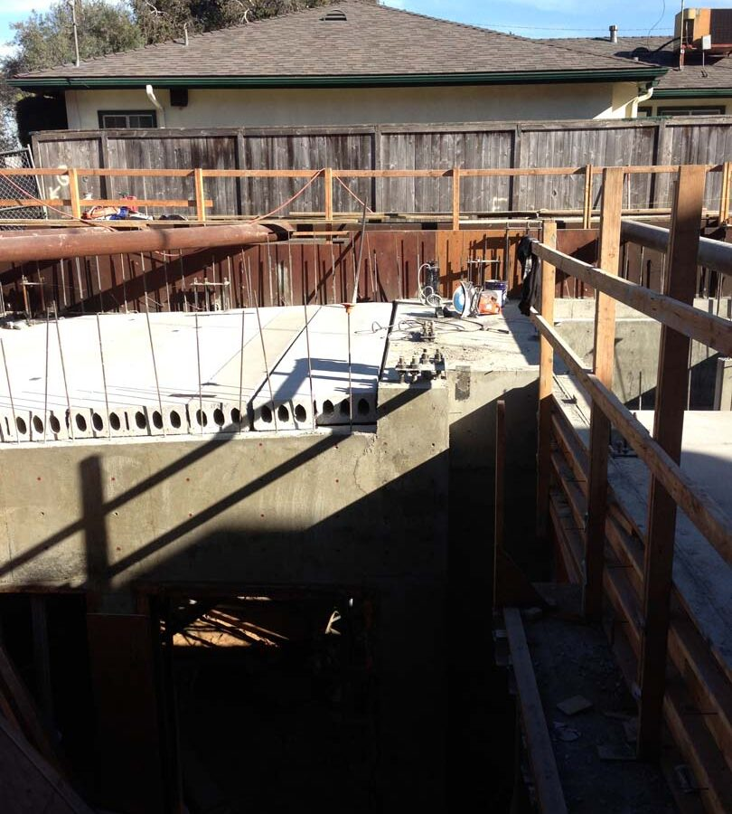 New concrete 1st story finish floor above the basement. Pacificland Constructors