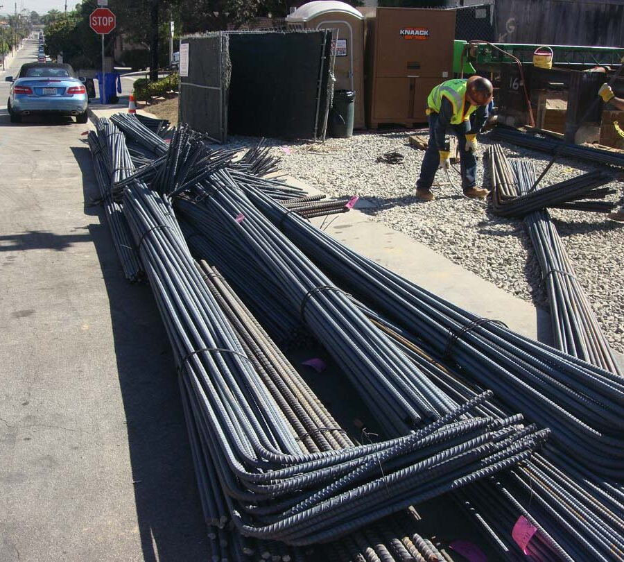 Delivery of steel reinforcement has arrived for a new custom home. Iron men Move in ! Pacificland Constructors