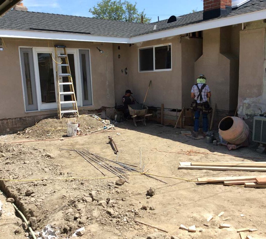 Construction forming for the structural reinforcement of the home's foundation to maintain its integrity. Pacificland Constructors