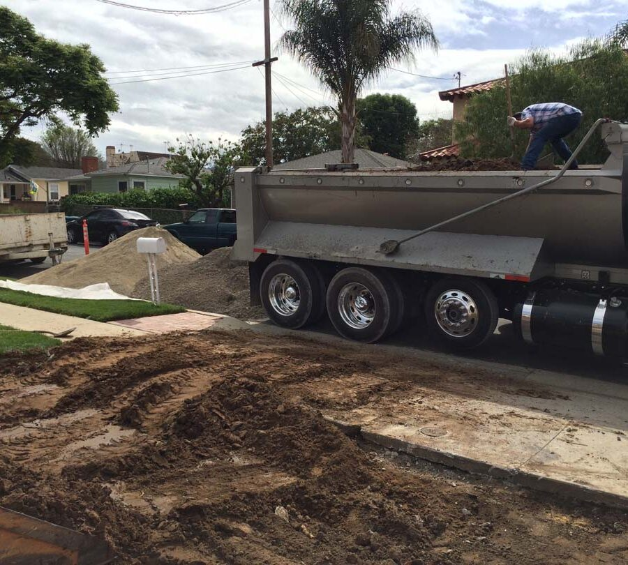 Demolition and haul of outdated driveway.