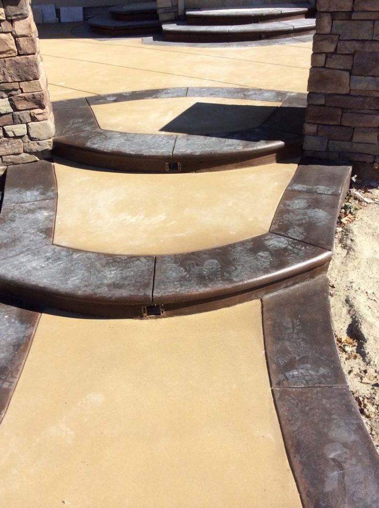 Stamped Concrete Work. Pacificland Constructors