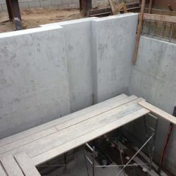 Poured the basement foundation and retaining walls for a custom home in Manhattan Beach, CA.