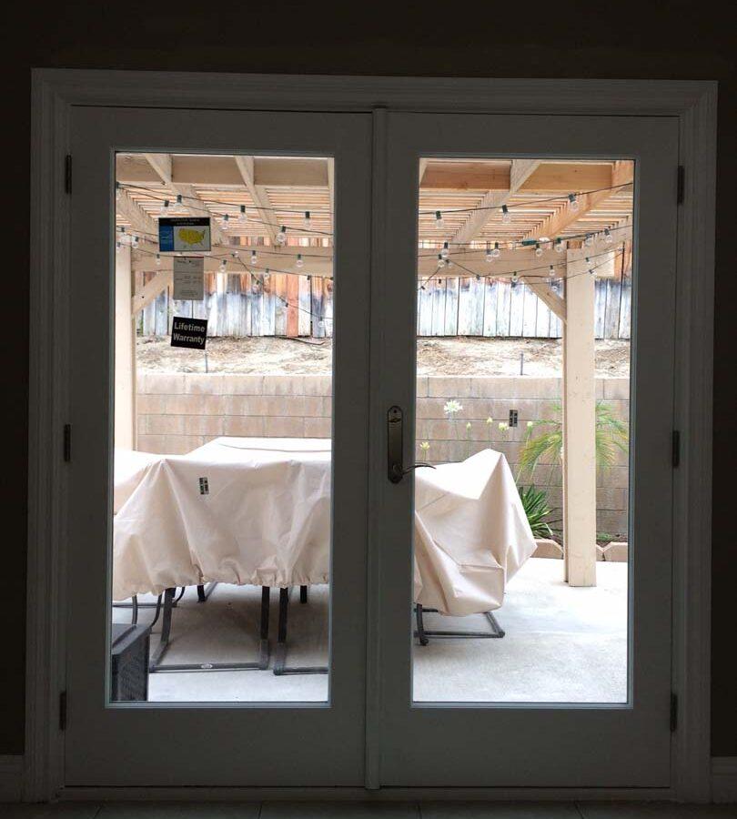 New door had been installed for indoor/outdoor use. Pacificland Constructors