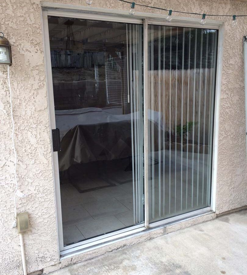 The existing door that was removed and replaced with a larger swinging door. Pacificland Constructors