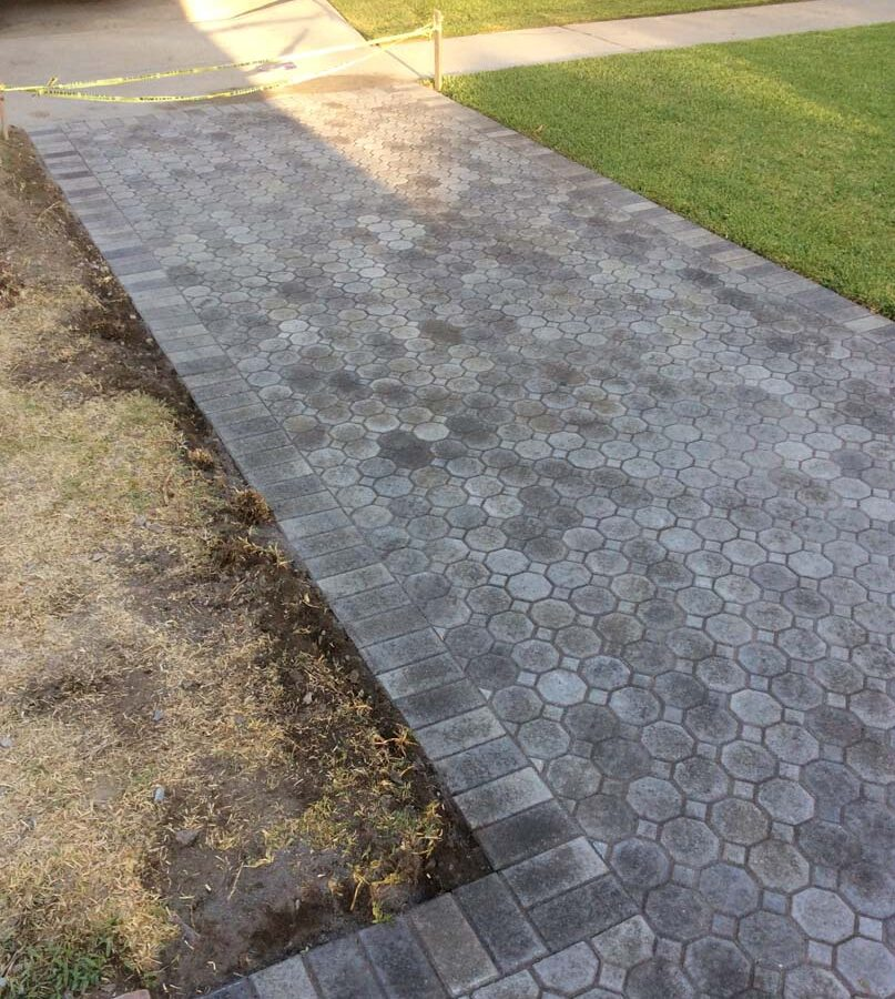 New pavers for a driveway, please view the catalogs on our website for ideas for your new driveway. Pacificland Constructors