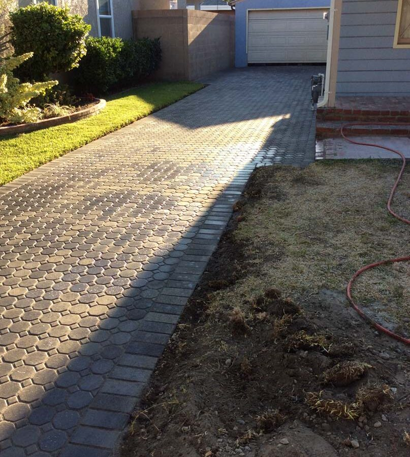 New wet pavers for a driveway, please view the catalogs on our website for ideas for your new driveway. Pacificland Constructors