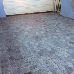 New pavers for a driveway in Lakewood, CA.