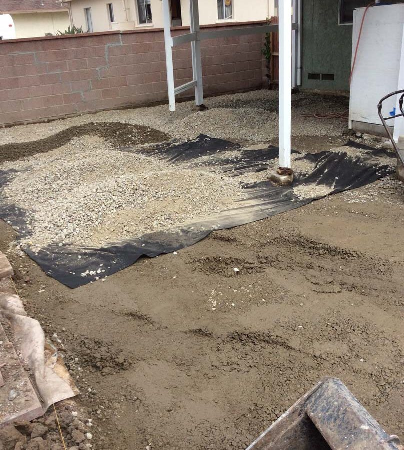Preparation of paver scope area after all demolition was complete.