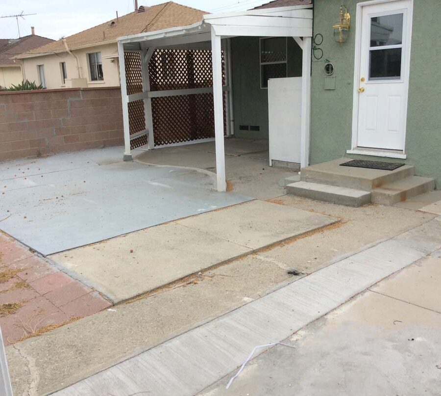 This home's old backyard image that was demolished and replaced with new paver work.