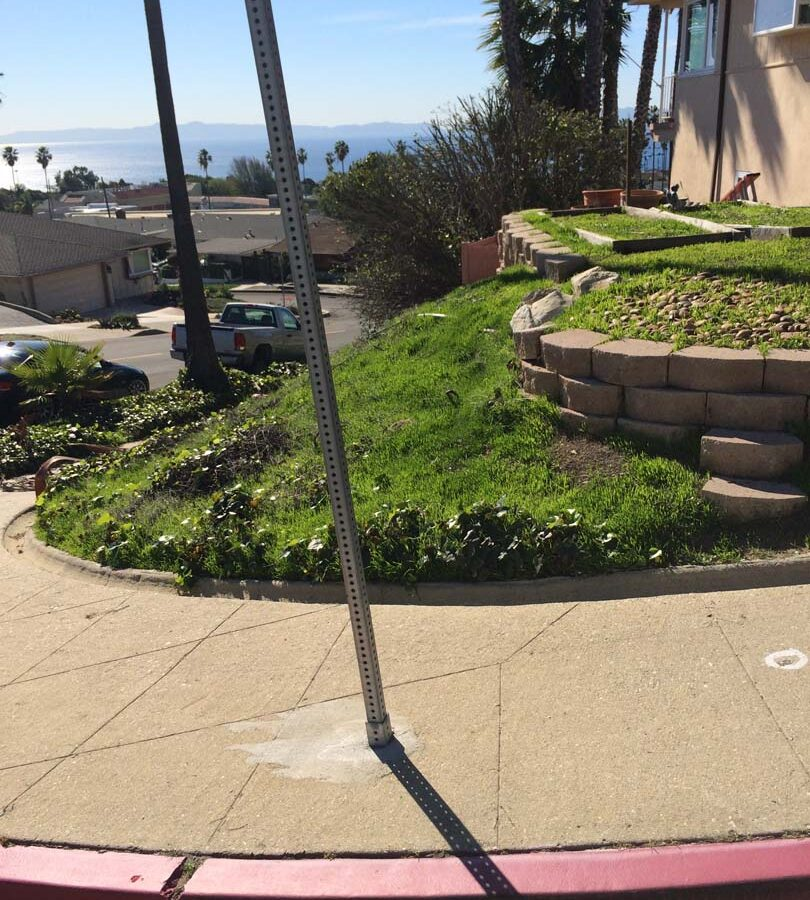 Old front yard view. Pacificland Constructors