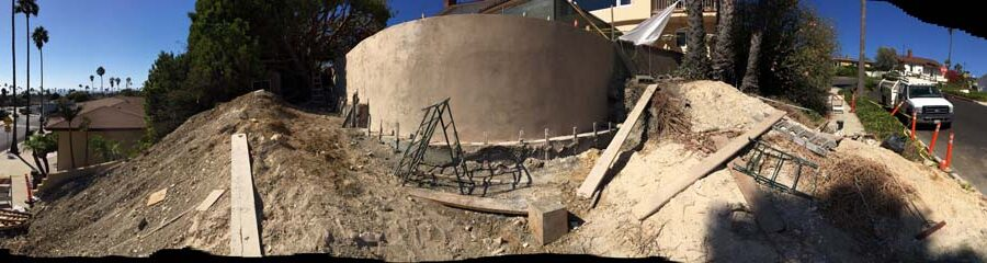 Construction of a new retaining wall. Pacificland Constructors
