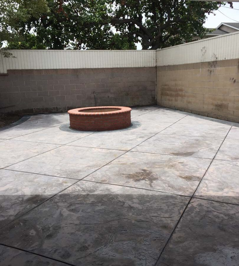 New Brick fire pit for a home. Pacificland Constructors