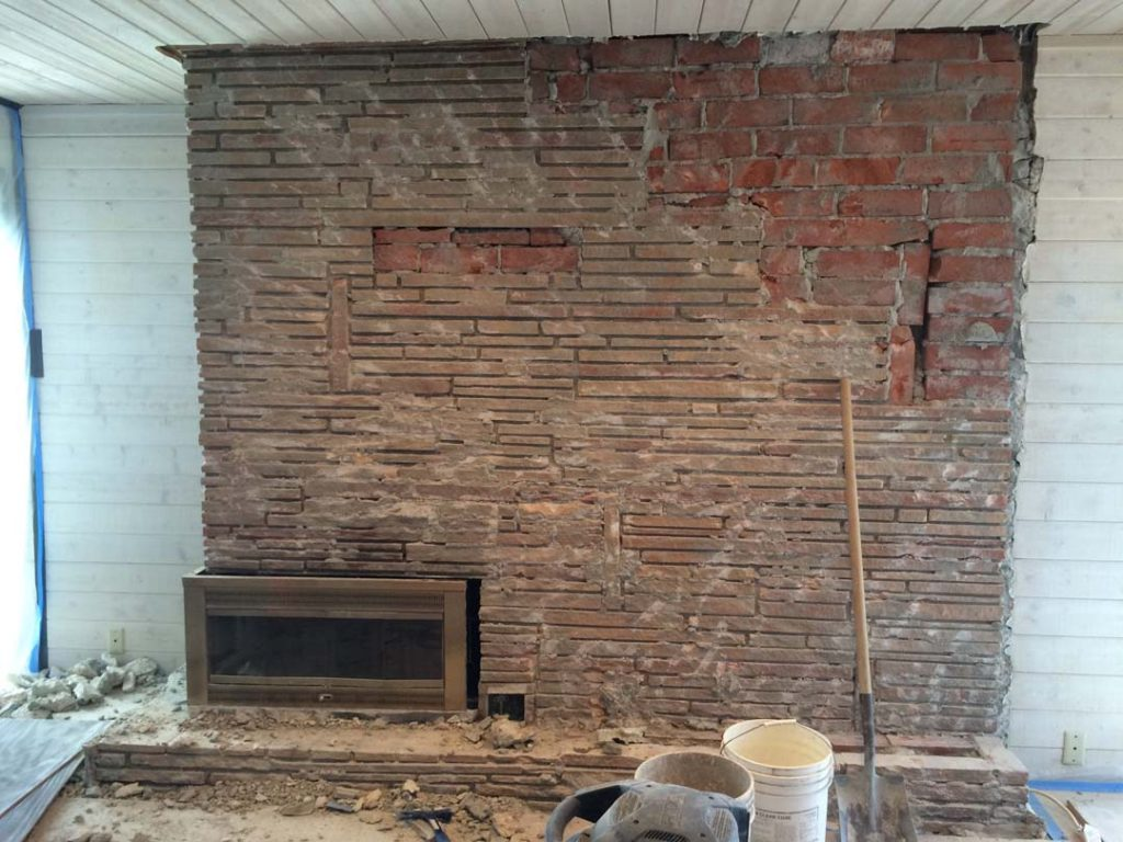view update fireplace a side how to progress stone paint