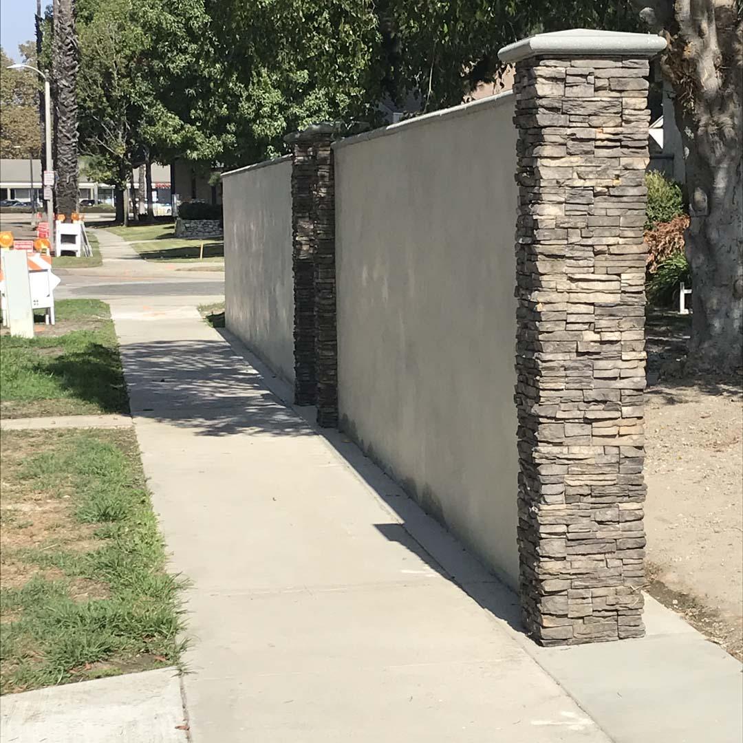 Stucco finish cmu wall long beach pacificland constructors - How to stucco exterior cinder block walls ...