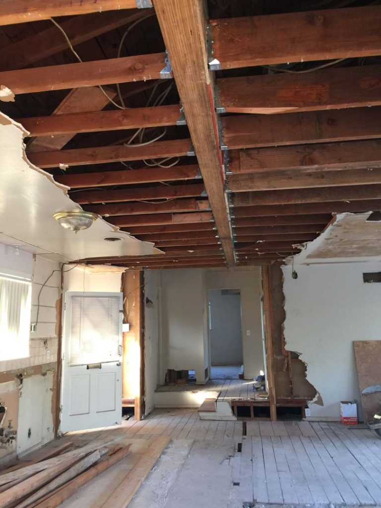 Removal Of Load Bearing Wall With A Beam Inside The Ceiling Pacificland Constructors