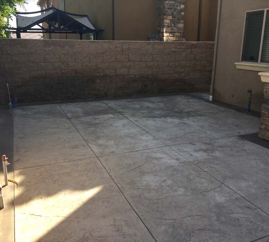 Bellflower Stamped Colored Concrete Pacificland Constructors