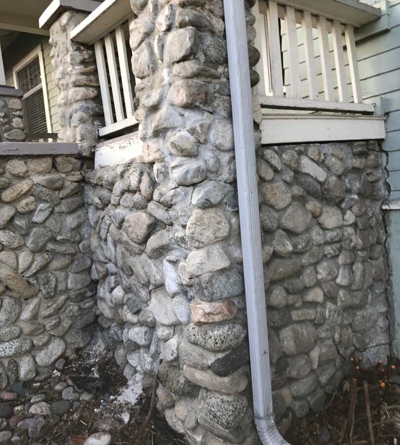 Outdated front porch that was falling apart. Pacificland Constructors