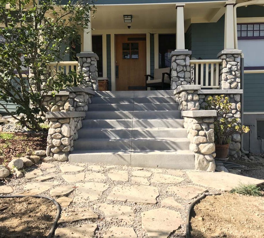 Eagle Rock Porch Stone Work Pacificland Constructors