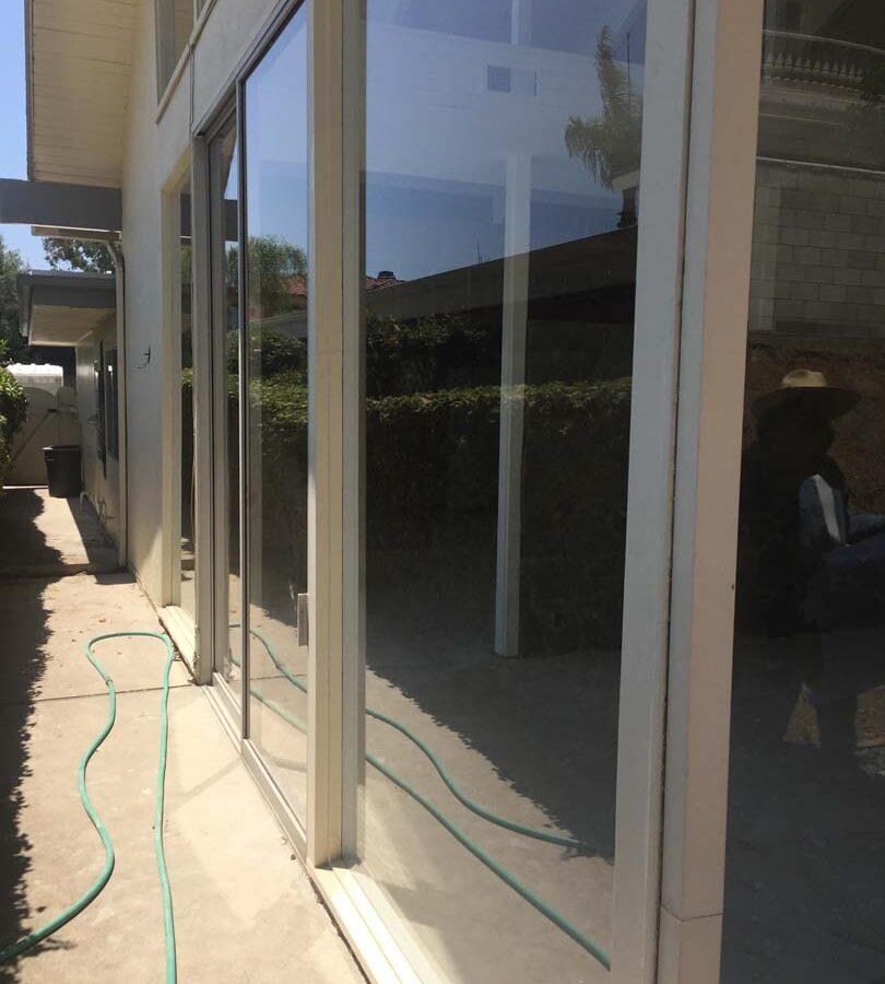 Existing glass windows for this home. Pacificland Constructors