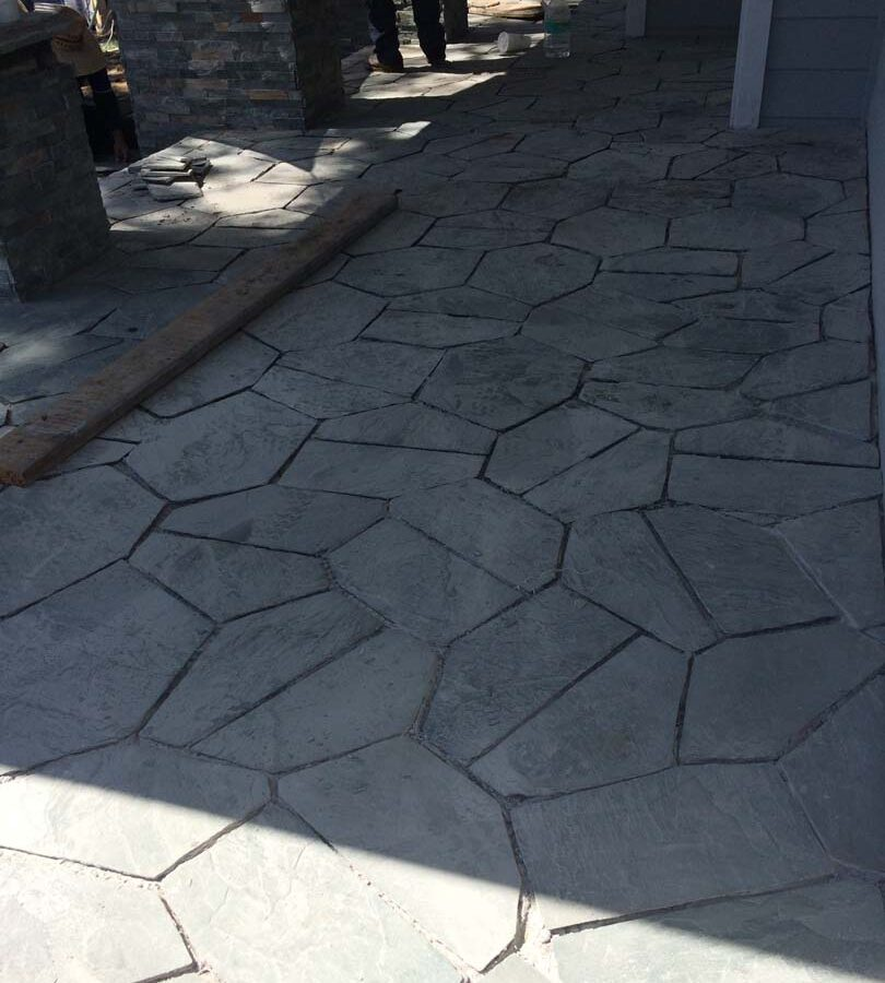 Beautiful flagstone work. Each piece was hand cut and fixed in place; it will last a lifetime. Pacificland Constructors